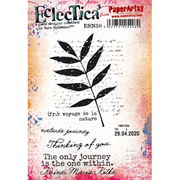 Paper Artsy SARA NAUMANN ECLECTICA3 50 Cling Stamps esn50