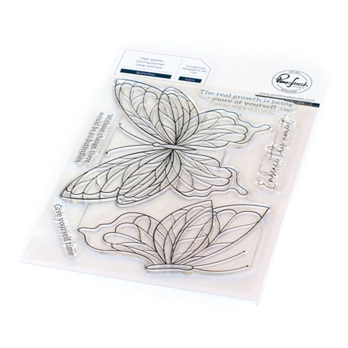 PinkFresh Studio BUTTERFLIES Clear Stamp Set 113121 Preview Image