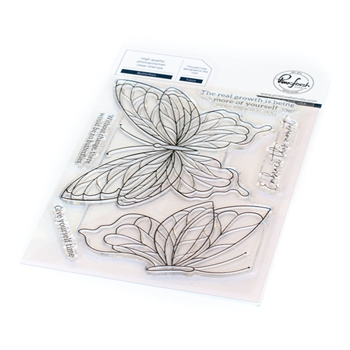 RESERVE PinkFresh Studio BUTTERFLIES Clear Stamp Set 113121
