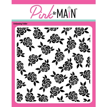 Pink and Main ROSE GARDEN Embossing Folder pmt011