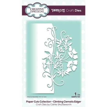 Creative Expressions CLIMBING CLEMATIS Paper Cuts Edger Die cedpc1161