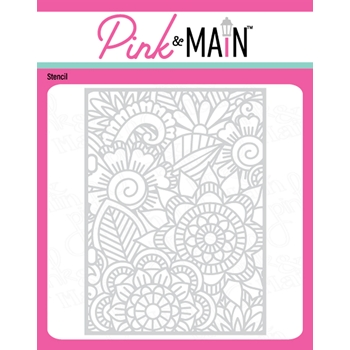 Pink and Main FLORAL Stencil pms057