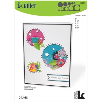 i-Crafter DASHED CIRCLES Dies 222021
