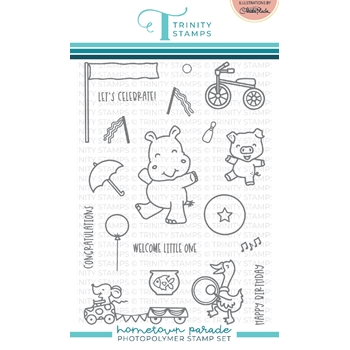 Trinity Stamps HOMETOWN PARADE Clear Stamp Set tps117