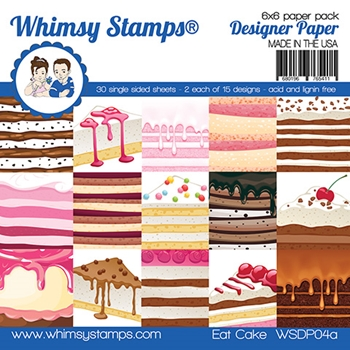 Whimsy Stamps EAT CAKE 6 x 6 Paper Pads WSDP04a