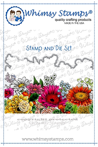 Whimsy Stamps GERBER DAISY Cling Stamp and Die Set DDB0011a zoom image