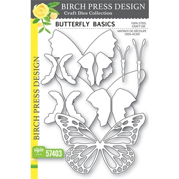 Birch Press Design BUTTERFLY BASICS Dies 57403