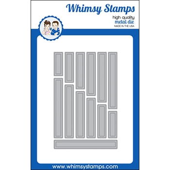Whimsy Stamps SIMPLE SENTIMENT STRIPS Dies WSD358a