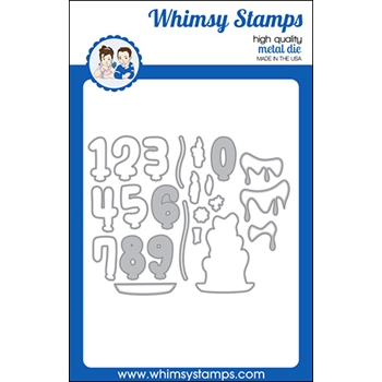 Whimsy Stamps MAKE A WISH OUTLINE Dies WSD402a