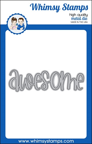 Whimsy Stamps AWESOME WORD Die WSD319a Preview Image