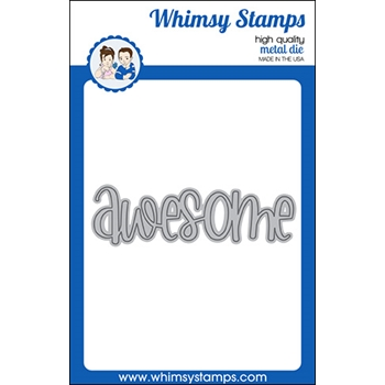 Whimsy Stamps AWESOME WORD Die WSD319a