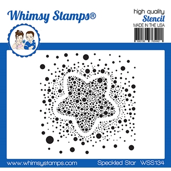 Whimsy Stamps SPECKLED STAR Stencil WSS134