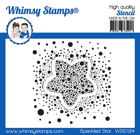 Whimsy Stamps SPECKLED STAR Stencil WSS134 zoom image