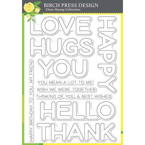 Birch Press Design HAPPY LINGO Clear Stamp Set cl8156* Preview Image