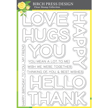 Birch Press Design HAPPY LINGO Clear Stamp Set cl8156