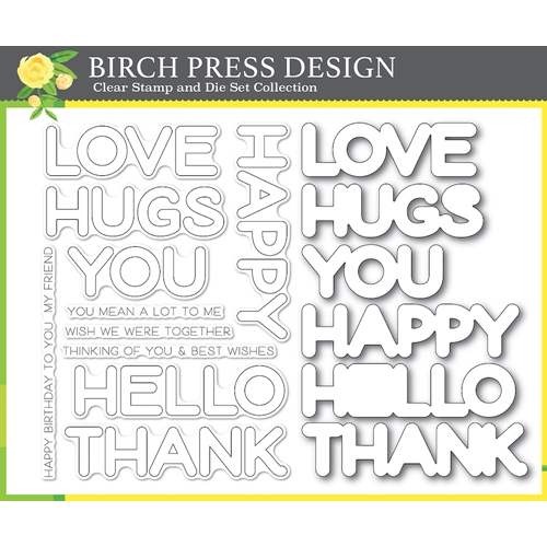 Birch Press Design HAPPY LINGO Clear Stamp and Die Set 8156 Preview Image
