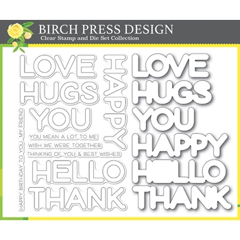 Birch Press Design HAPPY LINGO Clear Stamp and Die Set 8156
