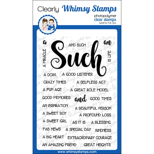 Whimsy Stamps SUCH AND SUCH Clear Stamps CWSD264a Preview Image