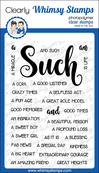 Whimsy Stamps SUCH AND SUCH Clear Stamps CWSD264a zoom image