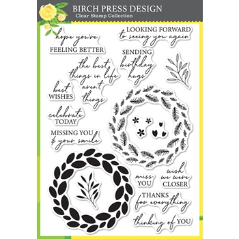 Birch Press Design CLASSIC SENTIMENTAL WREATH Clear Stamp Set cl8157