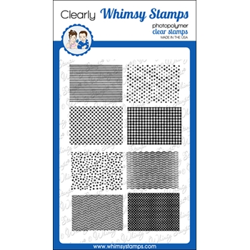 Whimsy Stamps MICRO PATTERNS Clear Stamps CWSD372