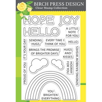 Birch Press Design RAINBOW DAYS LINGO NOTES Clear Stamp Set cl8159