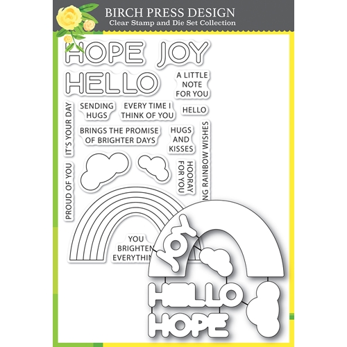 Birch Press Design RAINBOW DAYS LINGO NOTES Clear Stamp and Die Set 8159* Preview Image