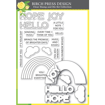 Birch Press Design RAINBOW DAYS LINGO NOTES Clear Stamp and Die Set 8159