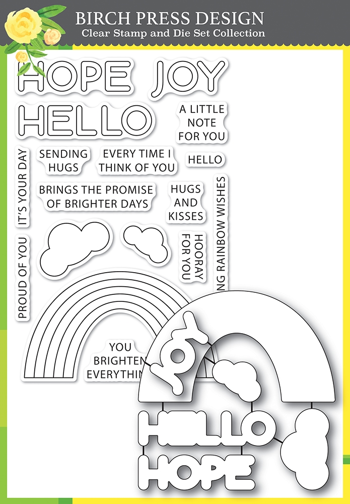 Birch Press Design RAINBOW DAYS LINGO NOTES Clear Stamp and Die Set 8159* zoom image