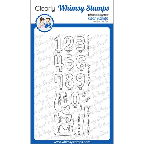Whimsy Stamps MAKE A WISH Clear Stamps CWSD373 Preview Image