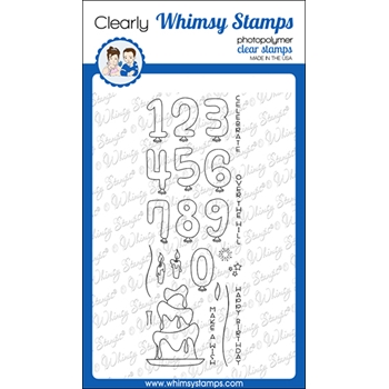 Whimsy Stamps MAKE A WISH Clear Stamps CWSD373