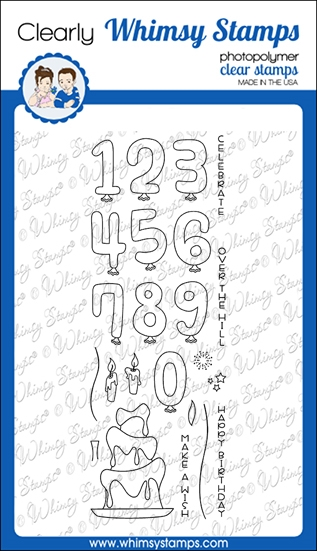 Whimsy Stamps MAKE A WISH Clear Stamps CWSD373 zoom image