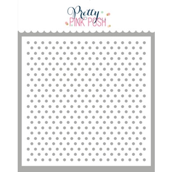 Pretty Pink Posh MINI POLKA DOTS Stencil
