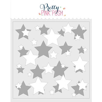 Pretty Pink Posh LAYERED STARS Stencils
