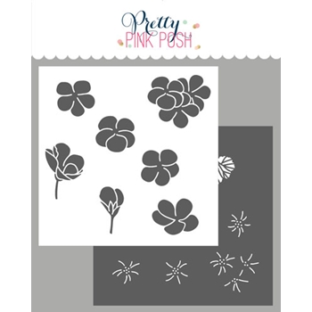 Pretty Pink Posh GERANIUMS Stencils