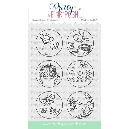 Pretty Pink Posh SPRING CIRCLES Clear Stamps  Preview Image