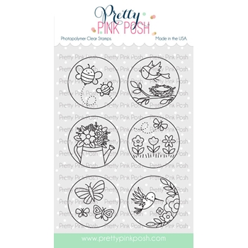 Pretty Pink Posh SPRING CIRCLES Clear Stamps
