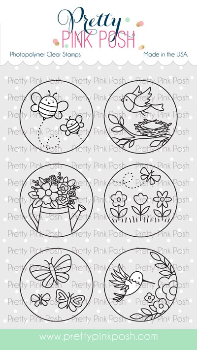 Pretty Pink Posh SPRING CIRCLES Clear Stamps  zoom image