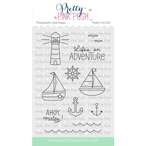 Pretty Pink Posh NAUTICAL Clear Stamps Preview Image