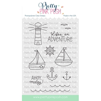 Pretty Pink Posh NAUTICAL Clear Stamps