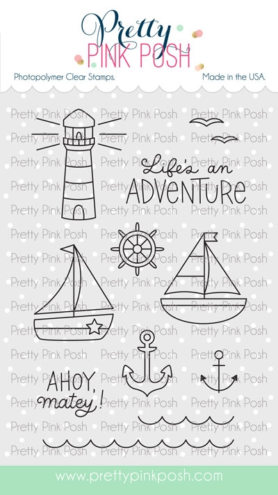 Pretty Pink Posh NAUTICAL Clear Stamps zoom image