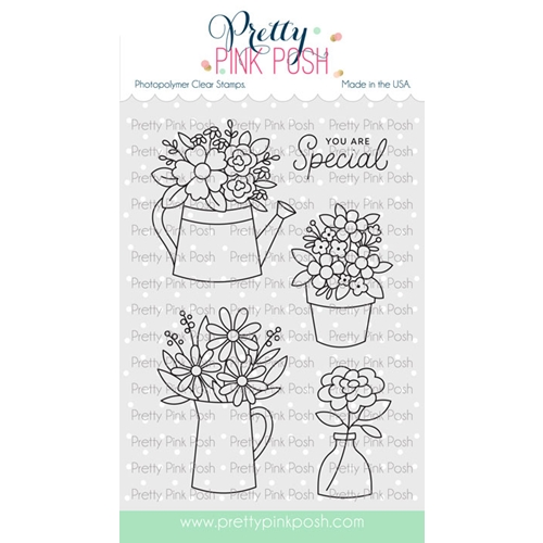 Pretty Pink Posh FLOWER BOUQUET Clear Stamps Preview Image