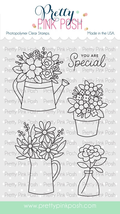 Pretty Pink Posh FLOWER BOUQUET Clear Stamps zoom image