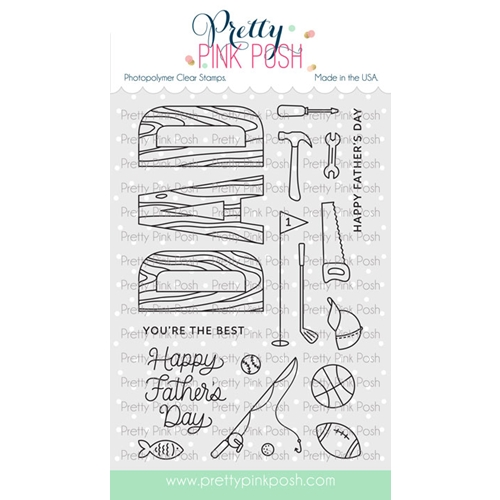 Pretty Pink Posh DAD Clear Stamps Preview Image