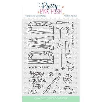 Pretty Pink Posh DAD Clear Stamps