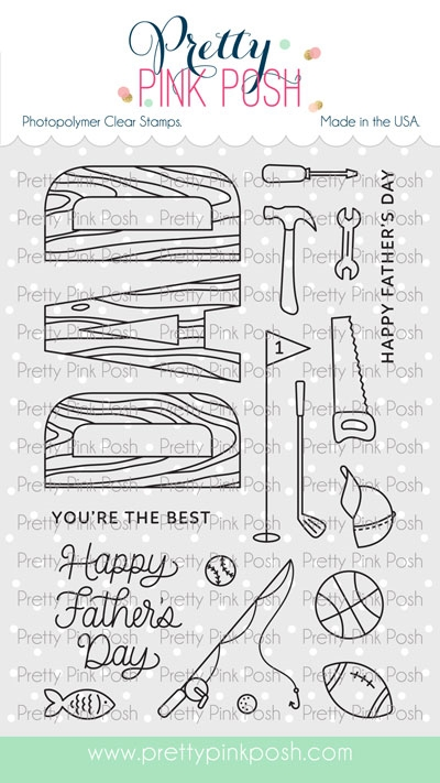 Pretty Pink Posh DAD Clear Stamps zoom image