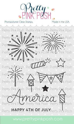 Pretty Pink Posh 4TH OF JULY Clear Stamps Preview Image
