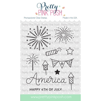 Pretty Pink Posh 4TH OF JULY Clear Stamps