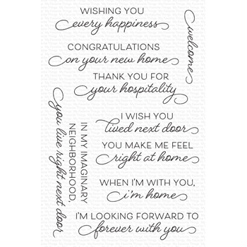 My Favorite Things RIGHT AT HOME Clear Stamps cs567