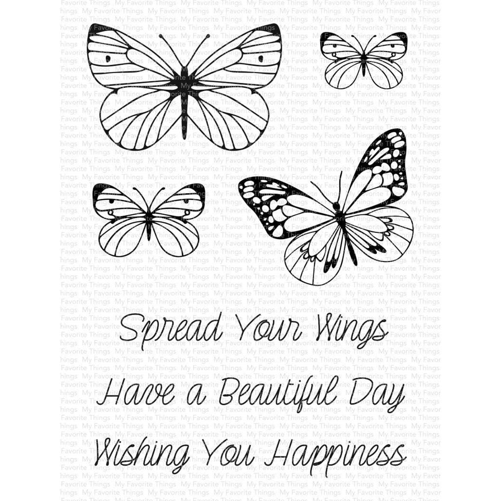 My Favorite Things SPREAD YOUR WINGS Clear Stamps cs569 zoom image